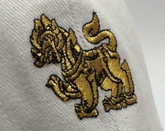 Logo Metallic Thread Gold ปักดิ้นทอง